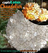Hanging Capiz Lotus Chandelier