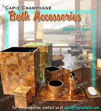 Capiz Champagne Bath Set Accessories