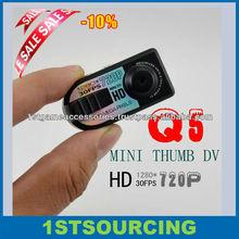 HD720P Q5 Super Thumb Camera Mini DV /Mini camera
