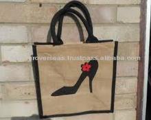 delicate beige hand purse jute bag