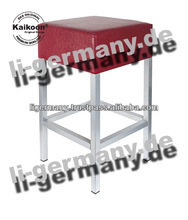 Bar Stool bordeaux decorative leather metal chair