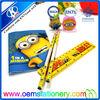 pencil eraser ruler set/stationery items for schools/PVC stationery set