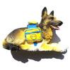 German shepherd dog,high quality resin 3D fridge magnet