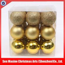 HOT SALES popular plastic christmas ball ornament
