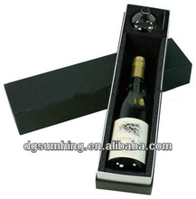 Customized clear wine glass bottles packing gift box
