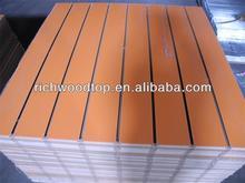 Solid color or wood grain color slatwall mdf Arylic