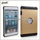TPU +PC case Crystal Case Cover For ipad Mini,PC+TPU Transparent Case For ipad mini