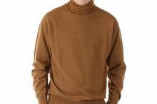 men's cashmere turtleneck pullover