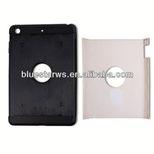 Tow-piece case for ipad mini Crystal Case Cover For ipad Mini,PC+TPU Transparent Case For ipad mini