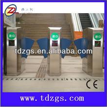 China OEM 304# stainless steel RFID interface bi-directional turnstile tripod gates retractable flap barrier