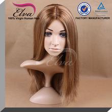 highlight blonde color straight european human hair jewish wigs