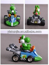 7 style hot sale Anime Super Mario Bros Spring back cars plastic action figures