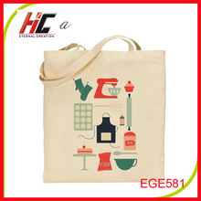 wholesale organic customized printed small cotton bag tote shopping bag