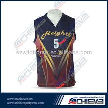 2014 new design latest sublimation basketball uniform design for men