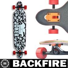 "2014 Backfire Brand 8 muti-colour ply Canadian sugar maple wooden Top star Joker Longboard 42"" x 9.5"""