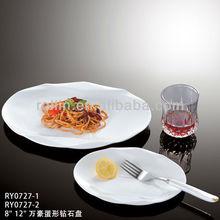 2014 best selling product hotel&restaurant dishwasher safe white oval nice design ceramic dish