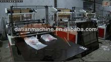 Two lines heat sealing cold cutting T-shirt bag making machine