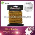 gold ausgekleidet flexible haar gummibänder für mädchen