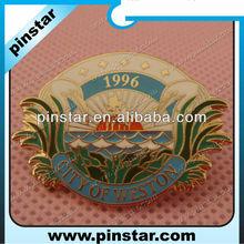 Antique gold design butterfly clutch badge pins soft enamel lapel pins