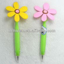 Wholesale Noverty Plastic Flower Ball Pen