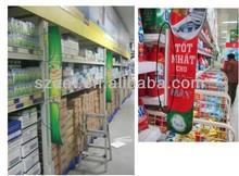 Supermarket Advertisement/display/promotion/shelf/desktop plastic sign/price holder, sign clip holder