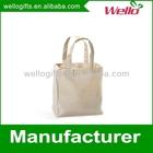 Natural plain cotton canvas tote bag