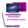 Factory New Purple Fashion Transparent Laptop PC case for Macbook air13.3,hard case for tablet pc macbook