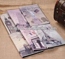 """Retro Old Paris LA Tour Eiffel Tower Leather case For Apple Ipad MINI 7""""tablet case"""