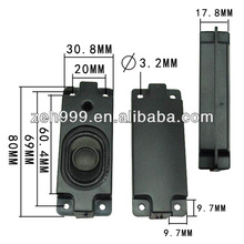 Newest 2014 hot sell 30mm*80mm 8ohm 2w loudspeaker box flat TV speaker computer loudspeaker