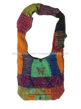 cross shoulder beach bags/Nepali cotton hippie bag