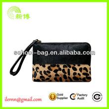 2014 new tide female leopard wrist wallet bag