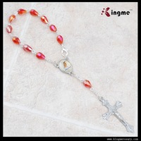 6*8mm Crystal Drop beads Catholic Car Rosary
