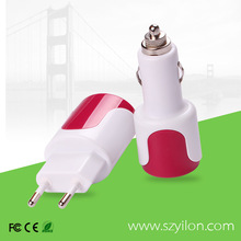 retractable helical wired cable with usb car charger