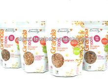Orgánica de granola cereales