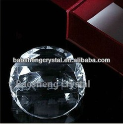 Round shaped crystal card holder for desk as business gift(BS-NC008)