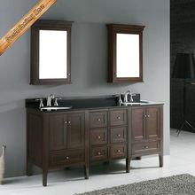 Modern floor mount bamboo bathroom furniture