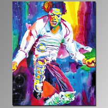 Handmade on canvas portrait of famous pop art painting portraits of Michael Jackson
