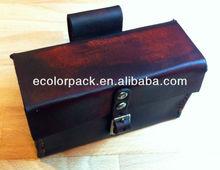 Handmade cartridge custom leather storage watch box