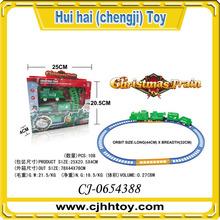 Latast Cartoon Design Christmas Plastic Railway Electric Train