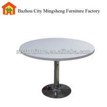 2014 nuovo caldo vendita moderna in metallo con design mdf top piccolo tavolo da pranzo rotondo