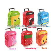 Wholesale Kids Schoolbag with Wheel, Colorful Kids Trolly Bag, Cute Animal Kids Schoolbag(BXDXT002)