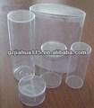 Klare pvc-kunststoff-zylinder tube-container