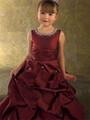 elegante ht779lovely vino rojo vestidos de flores niña