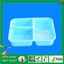 100% biodegradable recipientes de plástico segmentado