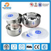 New arrival food grade stainless steel airtight food container/salad bowl set/mixing bowls