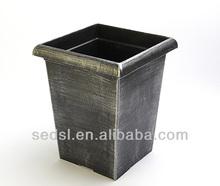 painted plant pot,square plastic flower pot,chinese flower vase