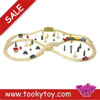 hot sale baby wooden railway train