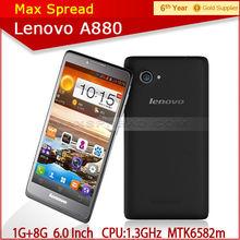 6 inch screen mtk6582m android4.2 quad core lenovo a800 original cellphone