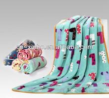 Super Soft Digitals Printed Blue Coral Fleece Plush Throw Blanket Bedspread