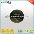 Botton cr2032 cellulaire. lithium, 3v horloge numérique de la batterie